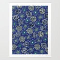 Flowers at night Art Print