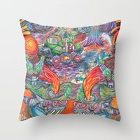 Machines Throw Pillow