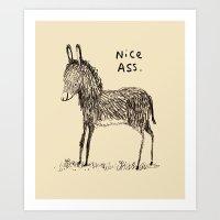 Nice Ass Art Print