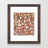 Cells in Pink Framed Art Print