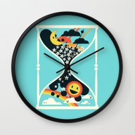 The Hourglass - Day Turn… Wall Clock