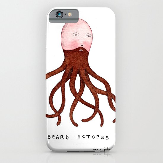 Beard Octopus iPhone & iPod Case