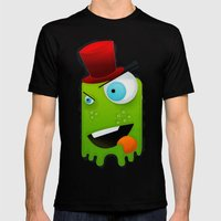 Scary Monster Mens Fitted Tee Black SMALL