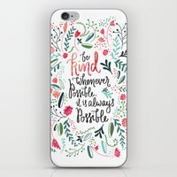 Be Kind iPhone & iPod Skin