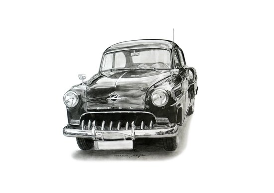 Opel Olympia Rekord 1953 Art Print