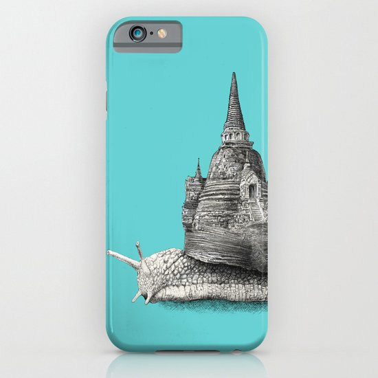 The Snail's Dream (monochrome option) iPhone & iPod Case