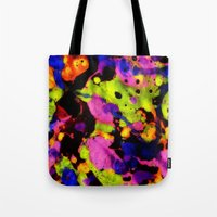 Paintskin with Orange and Blue Tote Bag