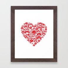 Gaming Love Framed Art Print