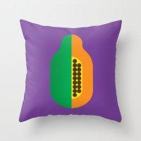 Fruit: Papaya Throw Pillow
