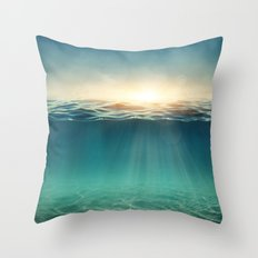 Sea Sunshine Throw Pillow