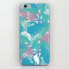 Tropical Blue Frog Pattern iPhone & iPod Skin