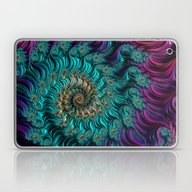 Aqua Swirl Laptop & iPad Skin