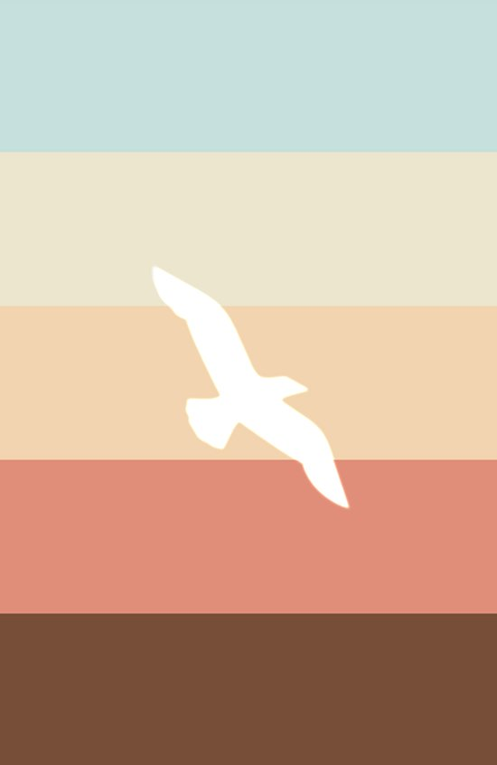Out At Sea Series - Sun, Sand and Seagulls Art Print