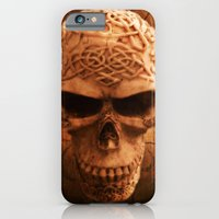 iPhone & iPod Case featuring Simply Skull by Lilly Guastella