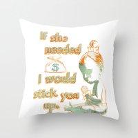 Stick Up Love Throw Pillow