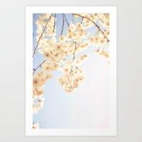 Cascading Blooms Art Print