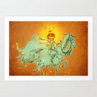 Pumpkin King Art Print
