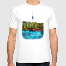 Berlin Mens Fitted Tee White SMALL
