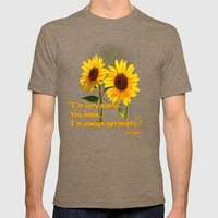 Sunflowers Mens Fitted Tee Tri-Coffee SMALL