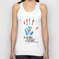 American Hands: Abraham Lincoln Unisex Tank Top