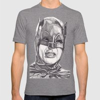 The Bat Mens Fitted Tee Tri-Grey SMALL