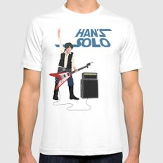 Han's Solo Mens Fitted Tee SMALL White
