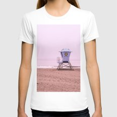 Cotton Candy Dhaze Womens Fitted Tee White SMALL