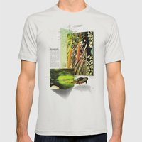 Red-Eared Turtle Mens Fitted Tee Silver SMALL