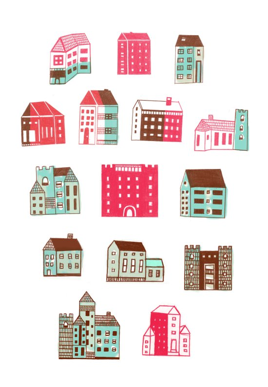 Places to rent Art Print