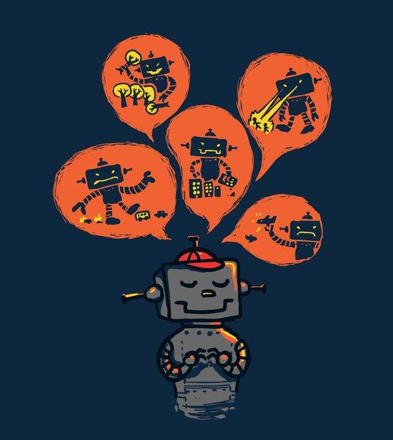 When I grow up - an evil robot dream Art Print