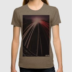 Passing By Womens Fitted Tee Tri-Coffee SMALL