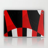 Black And White Meets Re… Laptop & iPad Skin