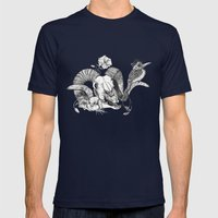 The ramskull and bird Mens Fitted Tee Navy SMALL