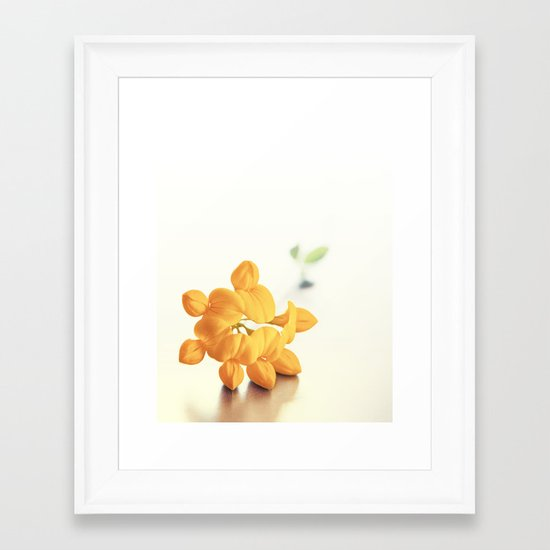 Yellow Clover Framed Art Print