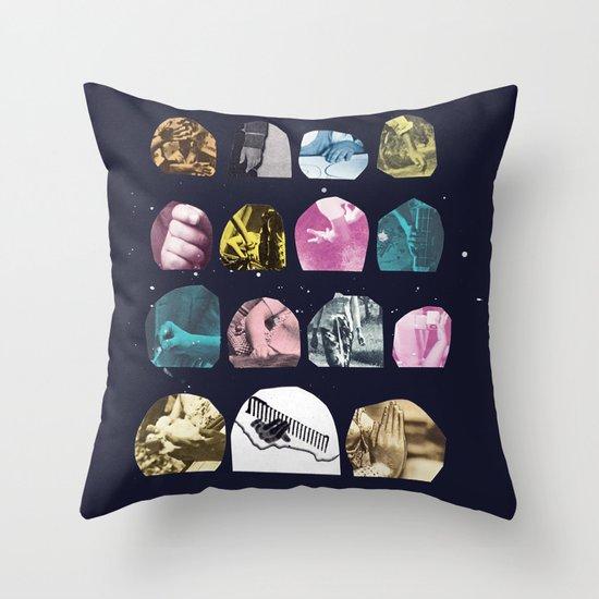 VARIOUS HANDS Throw Pillow