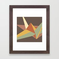 Abstract Crane Framed Art Print