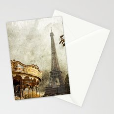 The Carousel and the Eiffel Tower - Paris Stationery Cards
