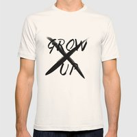 Never Grow Up Mens Fitted Tee Natural SMALL