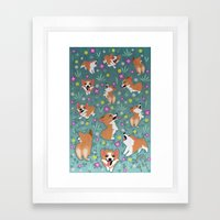 Corgis Framed Art Print