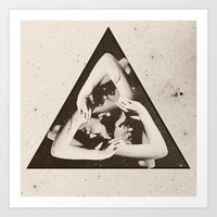 triangle Art Prints featuring TRIANGLE by Ali GULEC