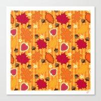 Autumn Print Canvas Print