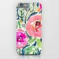 Peach Floral iPhone 6 Slim Case