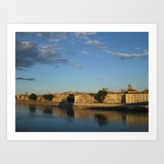 Sunset on the Rhône (Arles) Art Print