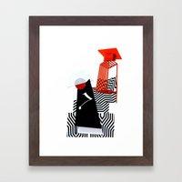 collage love :Monk Framed Art Print