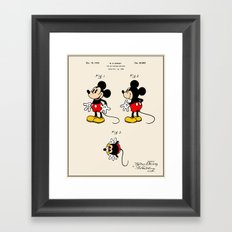 Mickey Mouse Patent - Co… Framed Art Print