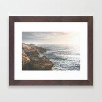 Ocean (Rocks Within The … Framed Art Print