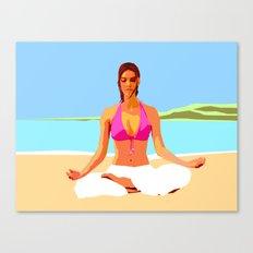 Yoga on the Beach Canvas Print