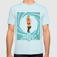 Agent Zardoz Mens Fitted Tee Light Blue SMALL