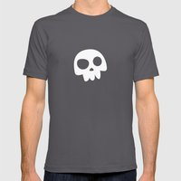 Skull Head Logo With Thr… Mens Fitted Tee Asphalt SMALL