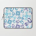 Blue windflowers Laptop Sleeve
